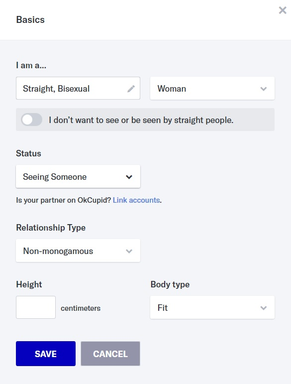 OKcupid Link accounts